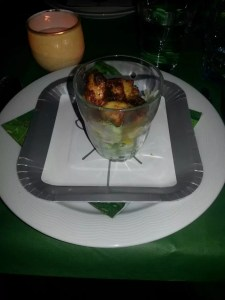 kipstukjes met frisse salade