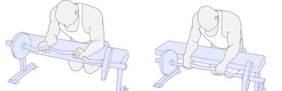 reverse wrist curl onderarmspier trainen