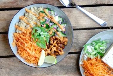 recept vegan quinoa bowl