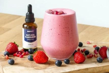 rood fruit fluff recept