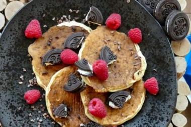 oreo protein pancakes