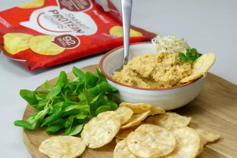 eiwit chips hummus recept