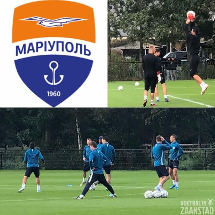 FC Mariupol traint op veld bij ZCFC