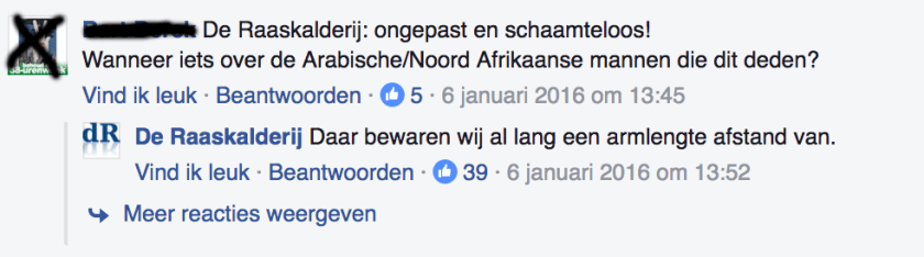 Screenshot van Facebook