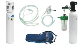 Пълен комплект мини лека кислородна бутилка 2 и 3 литра
