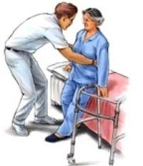 Смяна на колянна става С помощта на проходилка