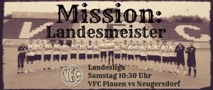 B-Junioren des VFC Plauen vor Titelgewinn in der Landesliga Sachsen