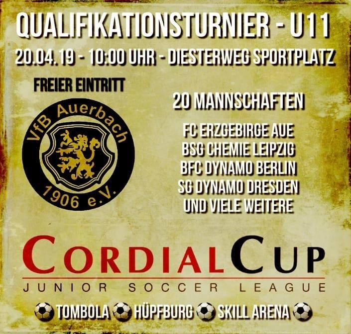 Cordial Cup Qualiturnier beim VfB Auerbach