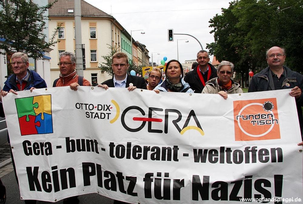 Proteste gegen Neonazi-Aufmarsch in Gera 2009