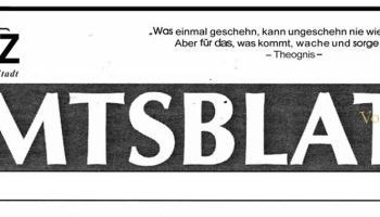 Amtsblatt der Stadt Greiz