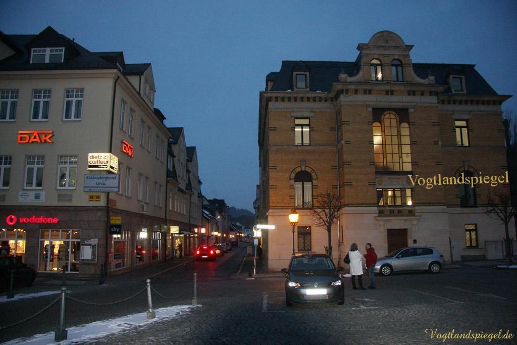 Parkplatz auf dem von-Westernhagen-Platz Greiz