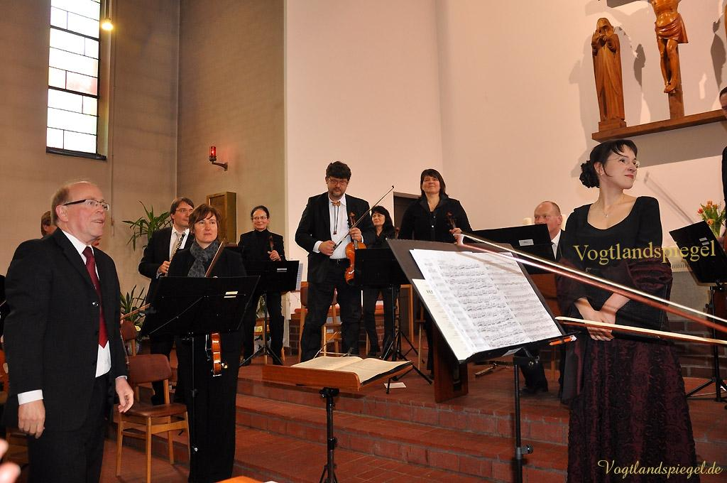 Das Greizer Collegium musicum gab anlässlich des 75-jährigen Bestehens der Katholischen Kirche Greiz ein Festkonzert