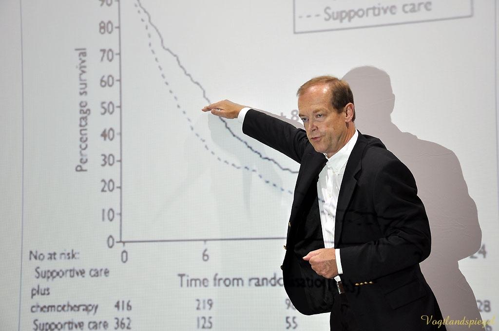 Prof. Michael Hallek bei »Prominente im Gespräch«
