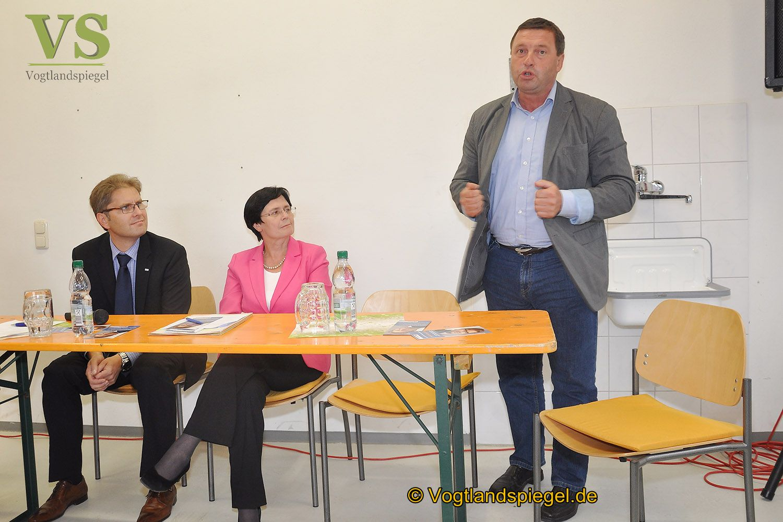 Thüringens Ministerpräsidentin Christine Lieberknecht (CDU) besuchte Mohlsdorfer Feuerwehr