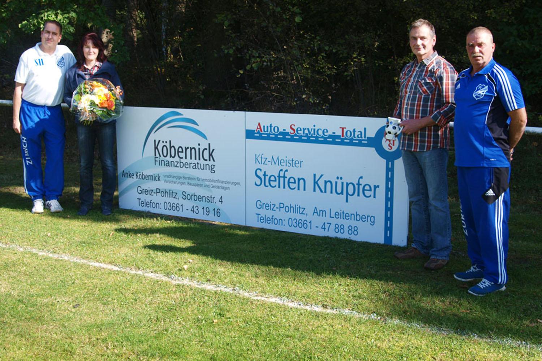 Neue Sponsoren beim SV Blau-Weiß 90 Greiz