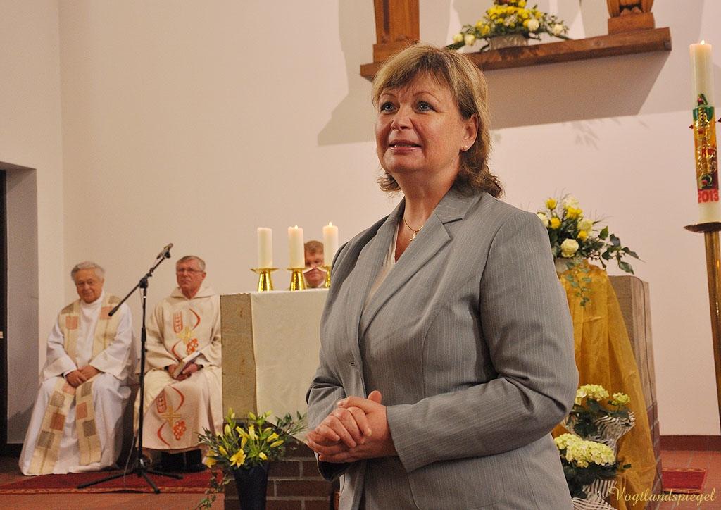 Martina Schweinsburg (CDU), Landrätin des Landkreises Greiz