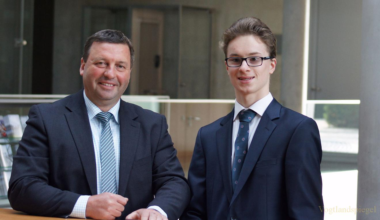Robert Müller entschied sich für ein Praktikum bei MdB Volkmar Vogel (CDU)