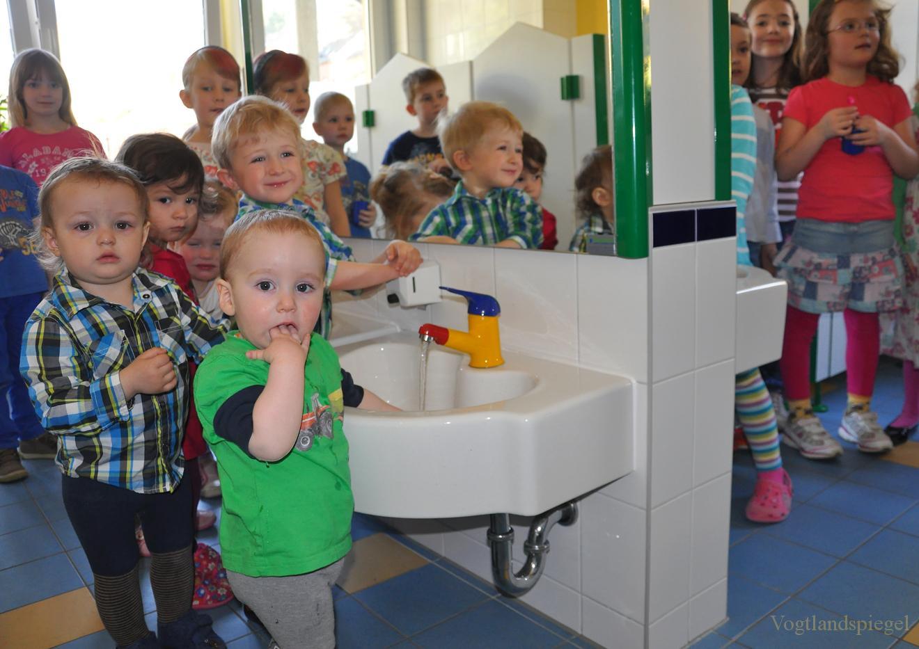 Waschraum in Greizer »Kita Freundschaft« eingeweiht