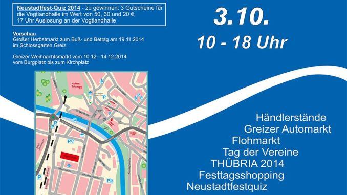 Flyer 9. Greizer Neustadtfest