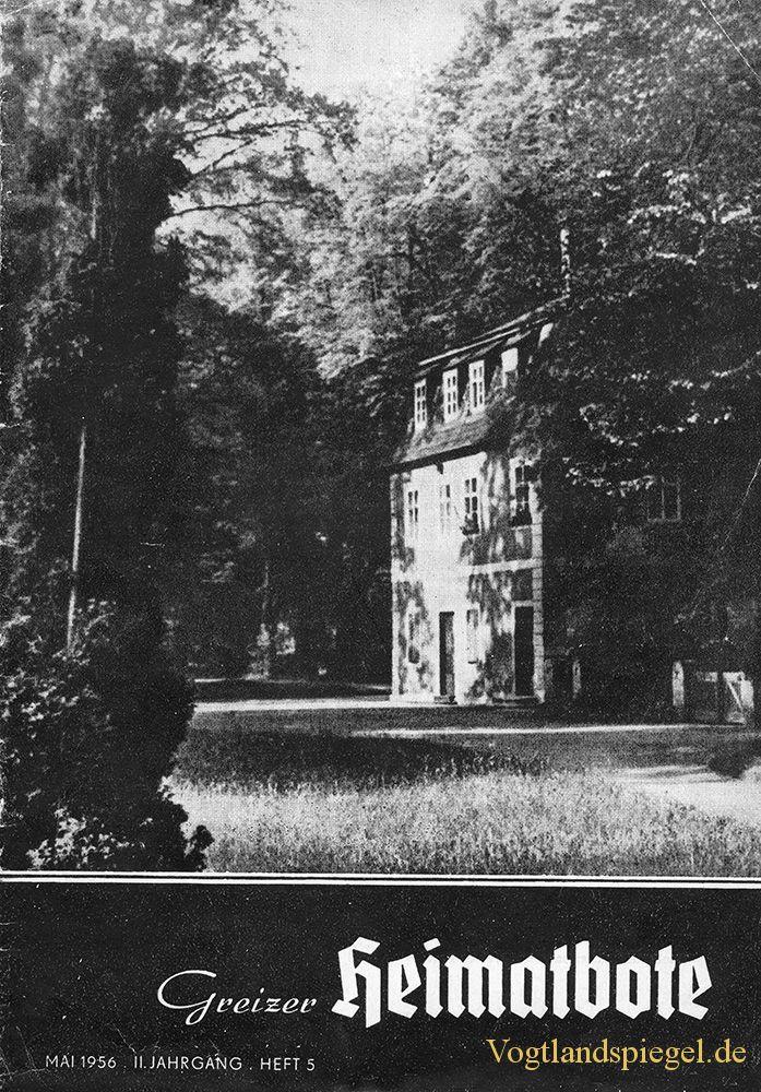 Greizer Heimatbote Mai 1956