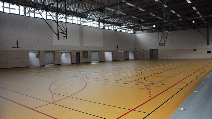 Bau der Zweifeldersporthalle Greiz