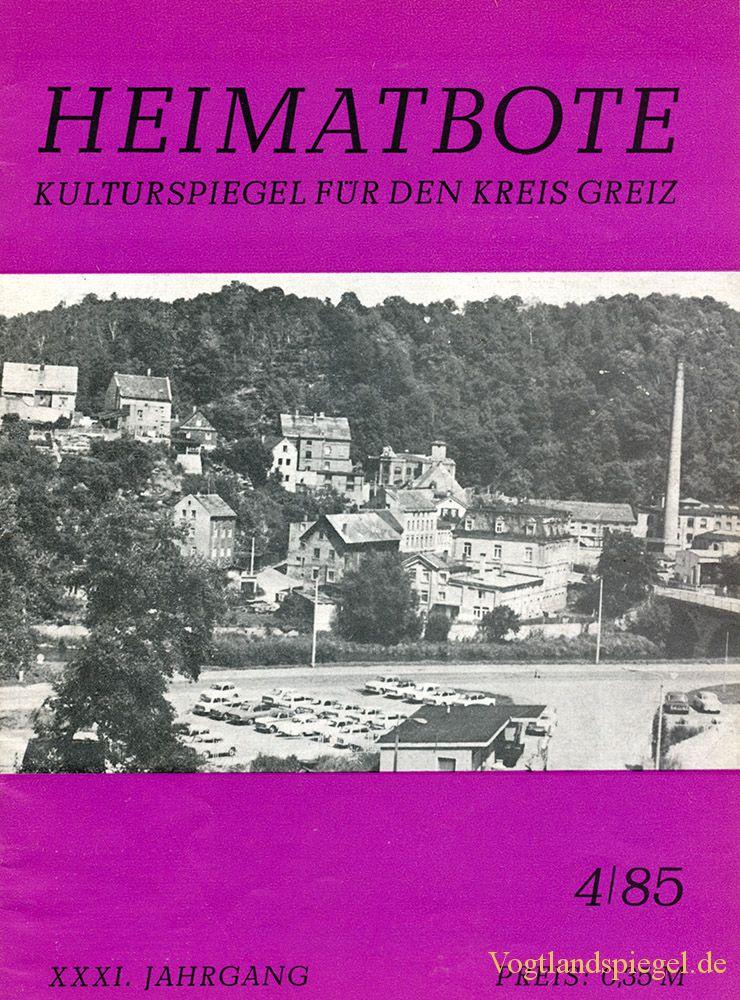 Greizer Heimatbote April 1985