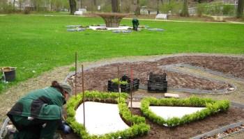 Frühjahrsbepflanzung im Fürstlich Greizer Park