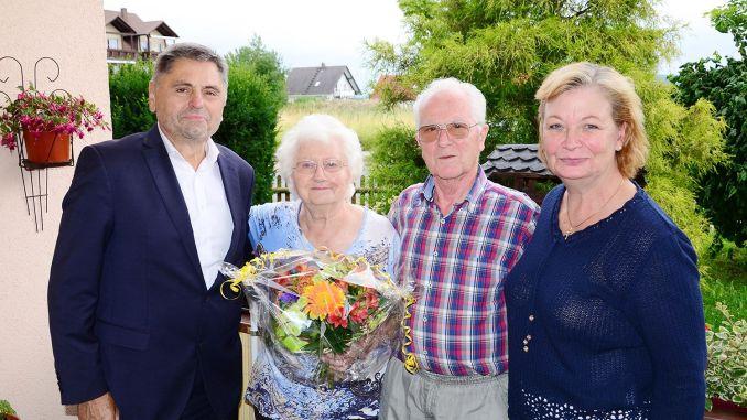 Therese und Karlheinz Hunger begehen Fest der Diamantenen Hochzeit