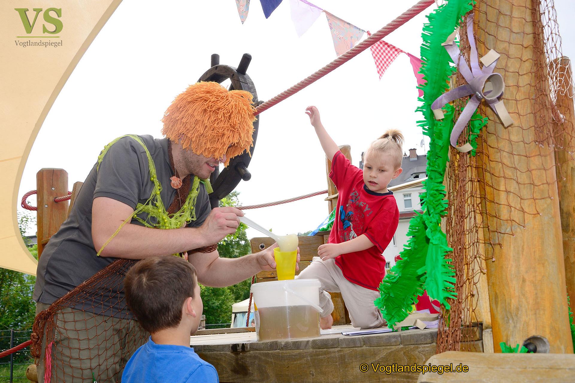 Sommerfest im Kinderhaus Am Elsterufer: Willkommen in Neptuns Reich