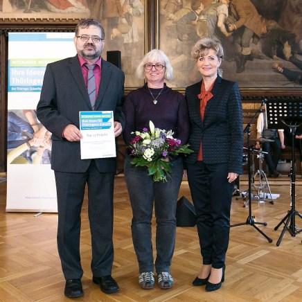 Verleihung des Thüringer Zukunftspreises 2018 in Erfurt