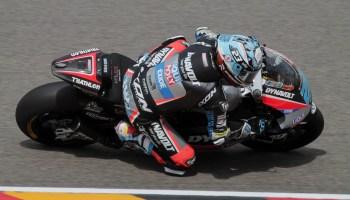 Marcel Schrötter (Pflugdorf/Kalex) startet als Dritter aus der ersten Startreihe beim Moto2-Rennen (Fotograf Michael Sonnick)