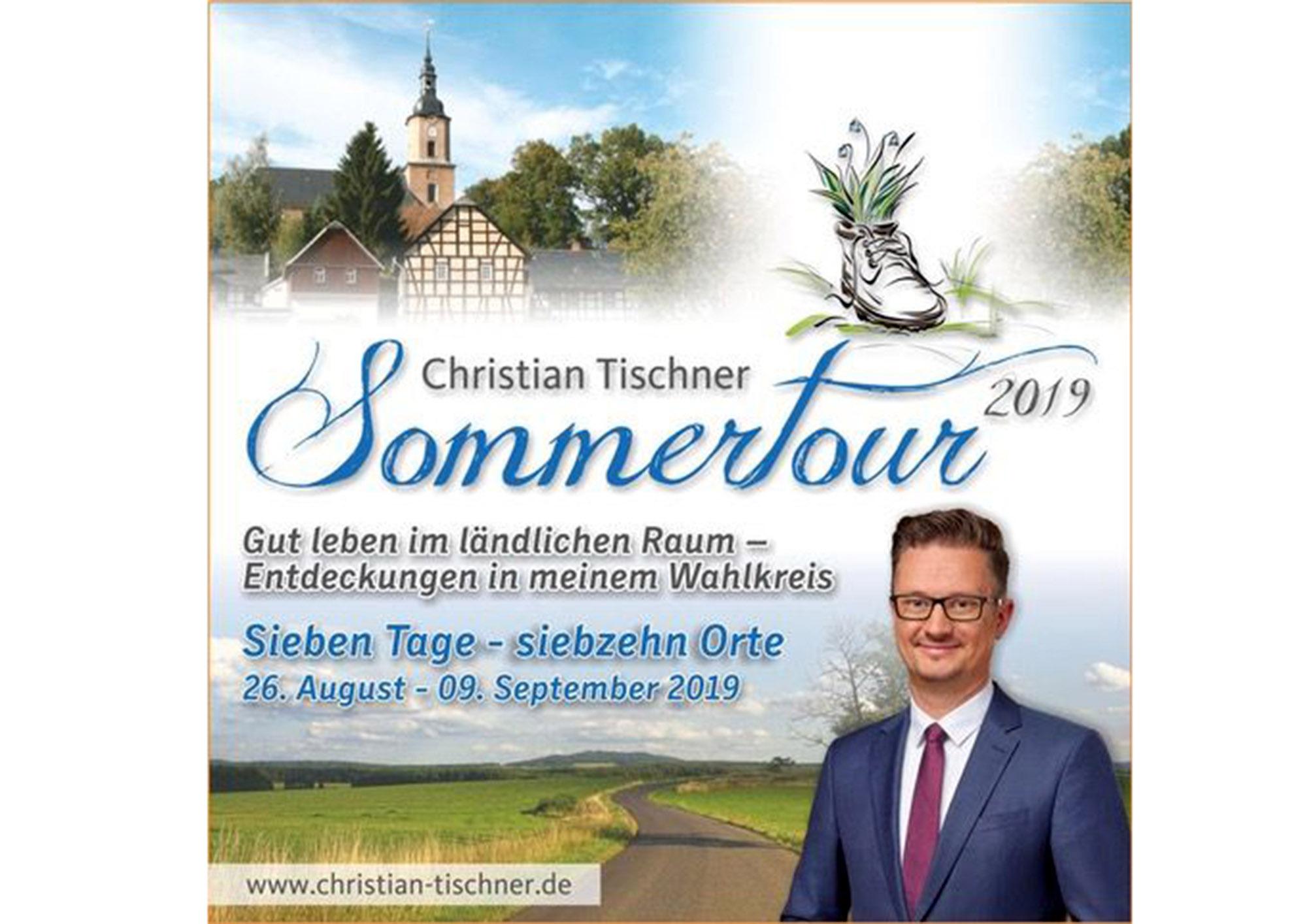 Zum fünften Mal geht CDU-Landtagsabgeordneter Christian Tischner auf Sommertour durch seinen Wahlkreis