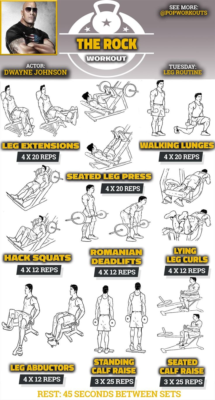 Fitness Motivation The Rock Legs Workout Routine For