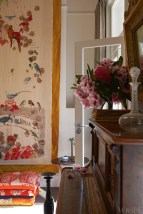 Detail from the Eastern-inspired music room styled by Akira Isogawa. From 'Holding Court' on page 146. Photograph by Earl Carter.