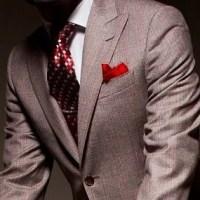 グレー,スーツ,ネクタイ,赤