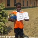 Bringing Hope - be a football player