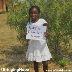 Bringing Hope - be a teacher