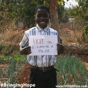 #bringinghope so I can be a pilot