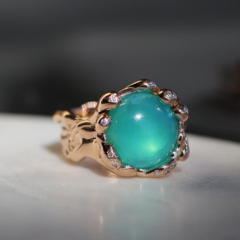 Lucifer Vir Honestus Peruvian Opal 18k Rose Gold Ring