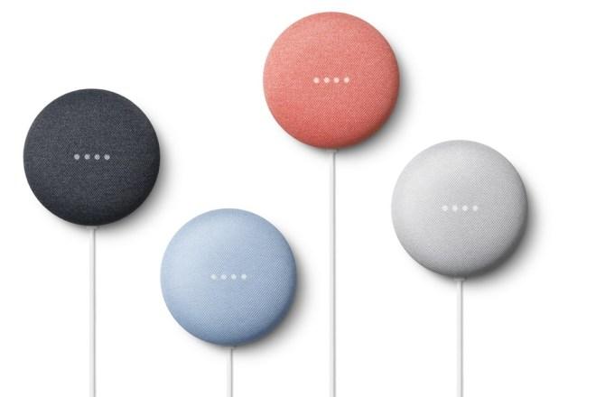 Google Nest Mini in vier Farben