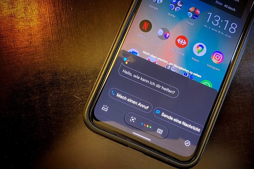 Google Pixel 4 mit aktiviertem Google assistant