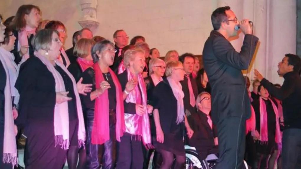 Le solo de Stéphane Pradillon, élu local, a emballé le nombreux public du concert.