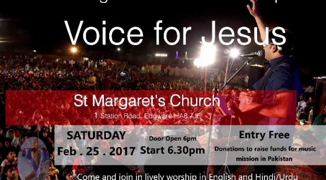 A night of concert & worship Saturday 25th February