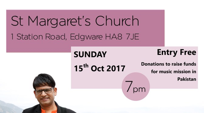 Funding raising Concert Sunday 15th October 7pm