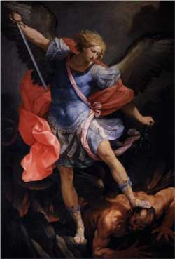 The Archangel Michael defeating Satan - Guido Reni