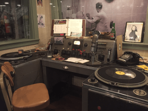 Original radio studio of WHBQ that first played an Elvis record