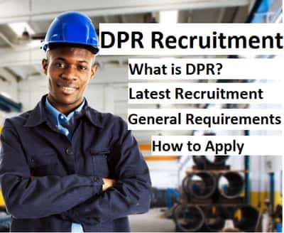 dpr recruitment 2019