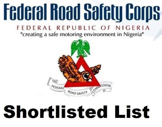 FRSC Shortlisted Candidates 2018 pdf List