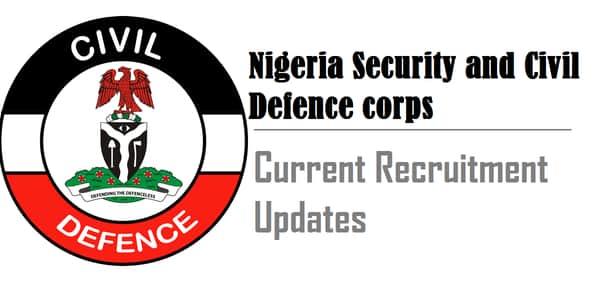 nscdc recruitment updates