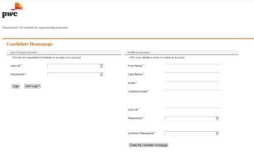pwc application form